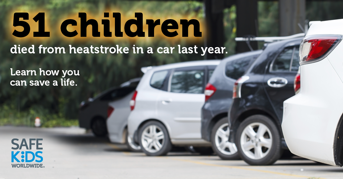 Very important message as it starts to get warmer outside.  Please remember to never leave your child alone in a vehicle and use physical reminders that you have a child in the backseat!    has lots of additional information.