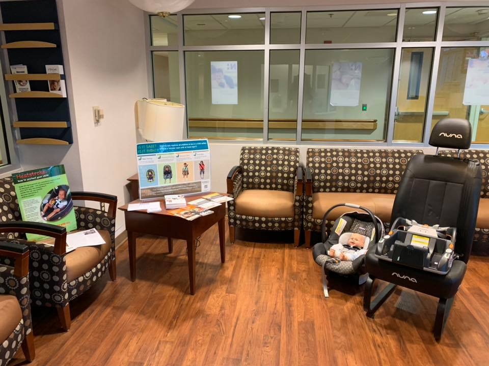 Happy to be attending the baby shower event at Novant Health UVA Health System Prince William Medical Center-ER!  All set up to talk car seat safety!