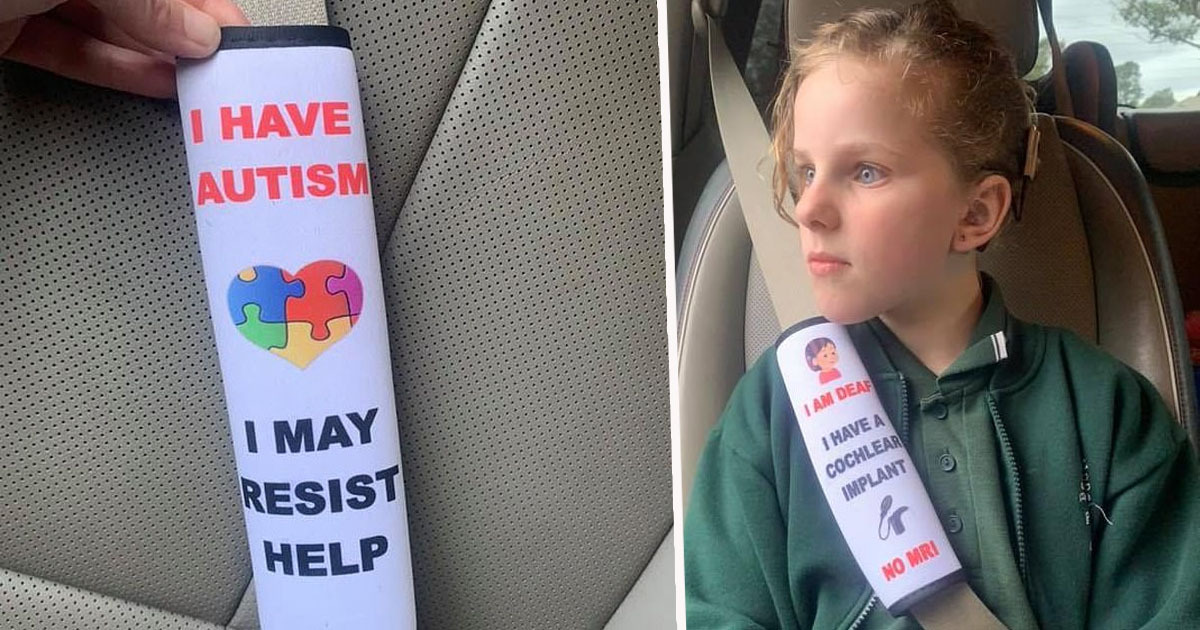 This post has gone viral – /mother-creates-seat-belt-covers-… – and CSFTL has a great PSA on them – /Car…/permalink/1335759039794817/….    Overall, you should never add anything to your child's harness or seatbelt and the best way to make sure em